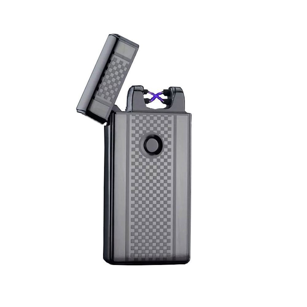 Premium Electric Dual Arc X Beam fusion Lighter By AMP Windproof Flameless USB Rechargeable Plasma Coil lighter 2 Designs