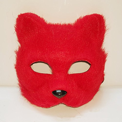 RANDER Halloween Animal vizard Mask glyptostrobus Men and Women Half Face Props Short Hair Cute Fox (Halloween Sounds Short)