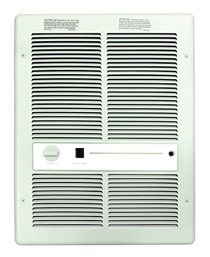 Double Thermostat Heater (TPI H3317T2SRPW Series 3310 Fan Forced Wall Heater with In-Built Double Pole Thermostat with Summer Fan Switch, 14-3/16