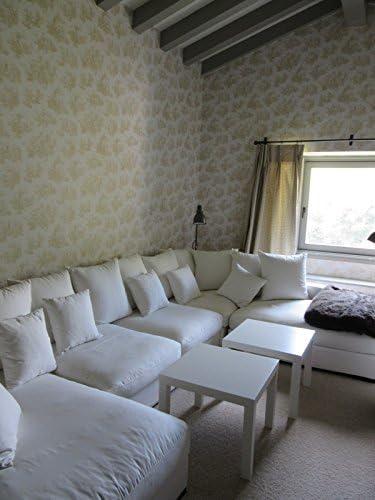 Provencale toile de jouy Inspiration Campagne Fran/çaise Papier peint beige chaud 6118