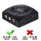 ABTW 3 RCA CVBS Composite Full HD AV to HDMI Converter Adapter Upscaler 1080P with USB Charging Cable, Supporting PAL / NTSC for TV / PC / PS4 / STB / Xbox / VHS / VCR / Blue-Ray DVD Players