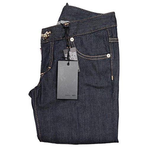 Pantaloni Dsquared Women Donna 59614 Trousers Jean D2 Capri Blu Jeans X8w4a