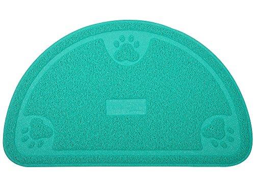 Tom Pet Large Cat Paw Print Litter Box Mat,Door Mat, Kitty Litter Rug,Half Circle,23.514.25 Inches