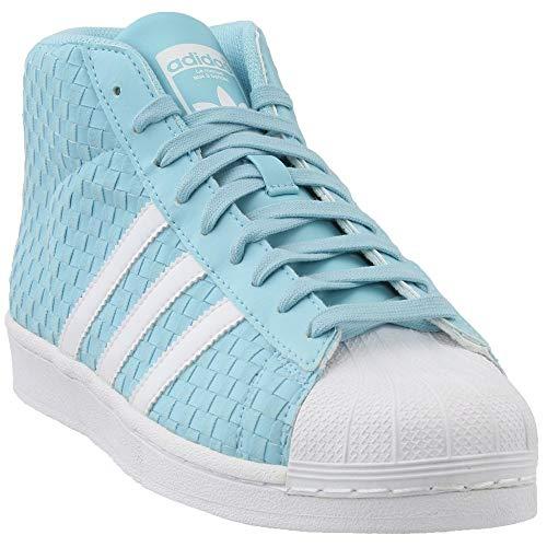 adidas Originals Men's PRO Model Running Shoe, White/Ice Blu