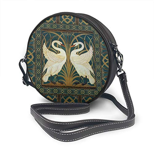 Jhgsjnsf Walter Crane Swan, Rush And Iris Art Nouveau Suede Shoulder Bags Leather Strap Bag,backpack For Women - Waterproof Leather Shoulder Strap For Travel,commuting And Hiking