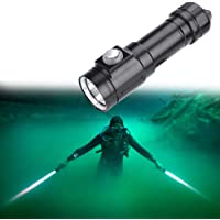 Filfeel Linterna LED Alta a Prueba de Agua para la búsqueda de Minas subterráneas en Exteriores, Rango 300-500 Metros, Alto, Medio, bajo, luz estroboscópica, SOS