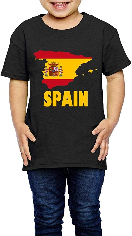 Kcloer24 Boys/&Girls Spain Map Flag Cute T-Shirt Summer Tee for 2-6 Years Old