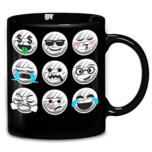 Emoji Mummy Face Halloween Funny T-Shirt Coffee Mug 11oz & 15oz Gift Tea Cups -