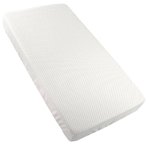 Kushies Fitted Crib Sheet, White Dots ()
