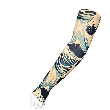 Mzqaxq Tattoo Sleeve Hombres Protector Solar Mano Tatuaje Temporal ...