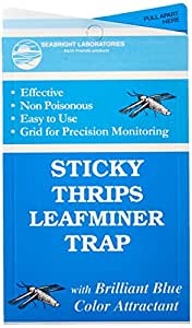 Hydrofarm HGSLTLT 5-Count Sticky Thrip Leafminer Trap (Pack of 5)