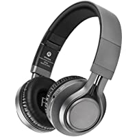Bluetooth Headphones, Hi-Fi Stereo Wireless Over Ear Headphones, TF Card Mp3 Player Fm Radio Headsets with Mic, Noise Cancelling, Strong Bass, Foldable, Portable, for PC/ Cell phones/ TV -Picun (Gray)