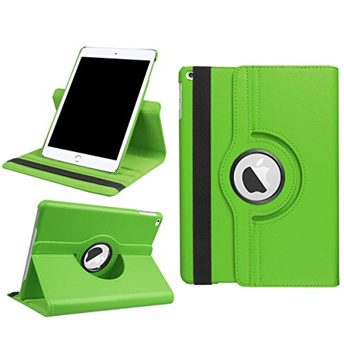 AICEDA New iPad 9.7 Inch 2017 Wallet Leather Case with Protective Durable Folio Shell Folio flip Cell Phone Cover Bag with Card Slots,Cash Pocket,Green by AICEDA