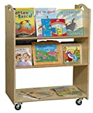 Contender C990648F Mobile Library Cart, Fully Assembled