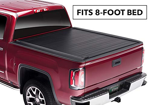 RetraxPRO MX Retractable Truck Bed Tonneau Cover | 80473 | fits Chevy & GMC Long Bed (14-18) & 2500/3500 (15-19) Wide RETRAX Rail ()