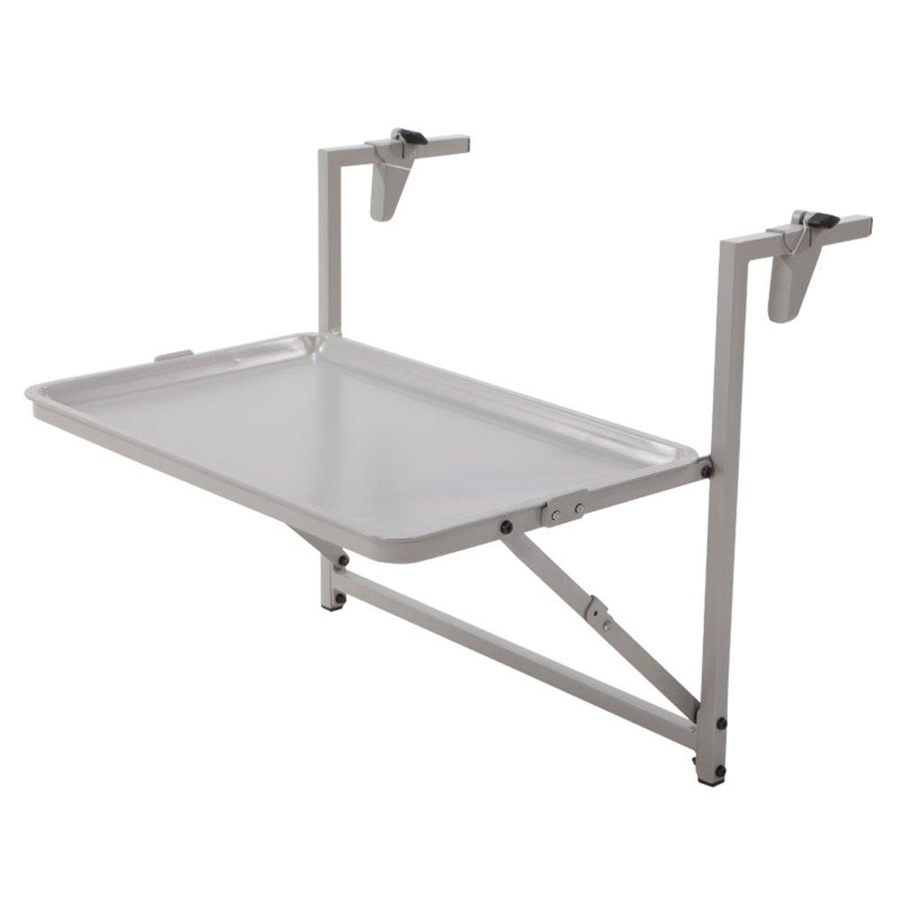 折りたたみテーブルバルコニー手すり折りたたみ便利な吊りテーブルレジャーテーブルウォールテーブルデスク B07DYQM5JX