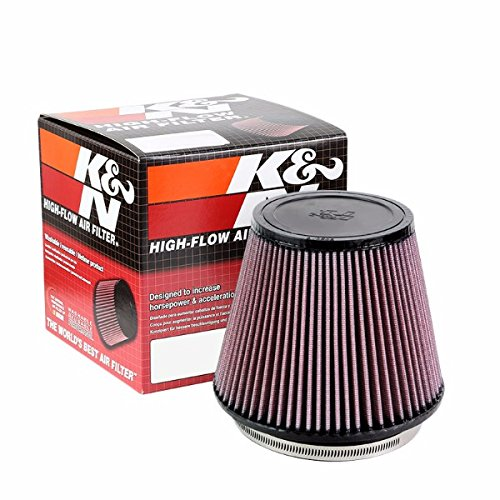 "K&N 6.00"" 153mm Universal Rubber Cotton Gauze Cone Round Tapered Air Filter RU-3100"