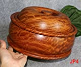 Rosewood ashtray with lid ashtray,28 cm in diameter