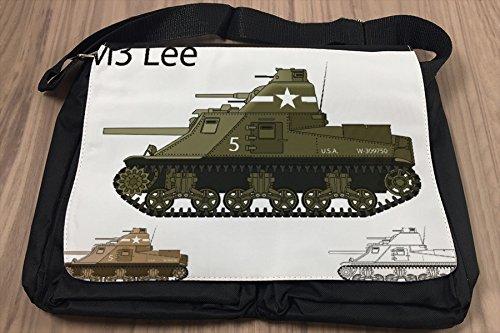 Borsa Tracolla Nostalgico Arredamento Carro armato M3 Lee Stampato