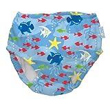 i play. Ultimate Swim Diaper, Light Blue Fish, Newborn