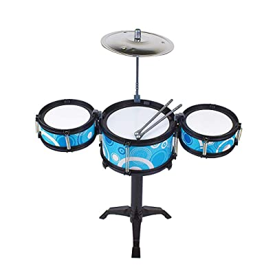 lazinem Children Simulation Jazz Drum Kit Toy Musical Instrument Percussion Toy Pianos & Keyboards: Home & Kitchen