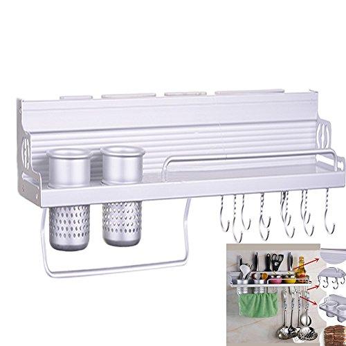 Garain Multi-Function Kitchen Rack Wall Mounted Shelf, 6 in