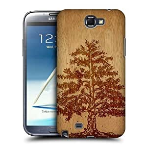 AIYAYA Samsung Case Designs Tree Wood Art Protective Snap-on Hard Back Case Cover for Samsung Galaxy Note 2 II N7100