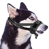 Slowton Nylon Dog Muzzle, Dog Mouth Cover Adjustable Soft Padding Quick Fit Comfortable