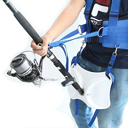 Offshore Fighting Fishing Belt Vest Harness Fishing Rod Pole Holder by Skallywags Depot