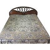 Reversible Blanket Throw Pashmina Bedspreads Grey Beige Bedspread
