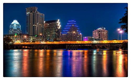USA Coast Houses Texas Night Austin Cities travel sites Postcard Post card Austin Postcard