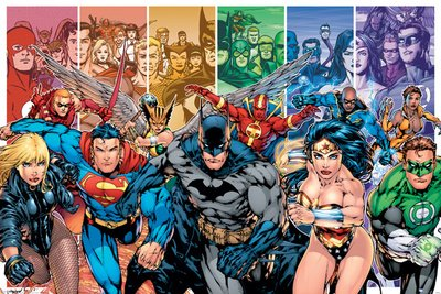 Pyramid International DC Comics Justice League of America Batman Superman Superhero Characters Poster 36x24 Inch