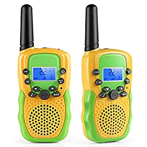 Walkie Talkies for Kids, Cakie 22 Channel FRS/GMRS 2 Way Radio (up to 3.7 Miles) UHF Hand-held Toys for Boys And Girls Age 3 4 5 6 7 8 9 Christmas Gifts