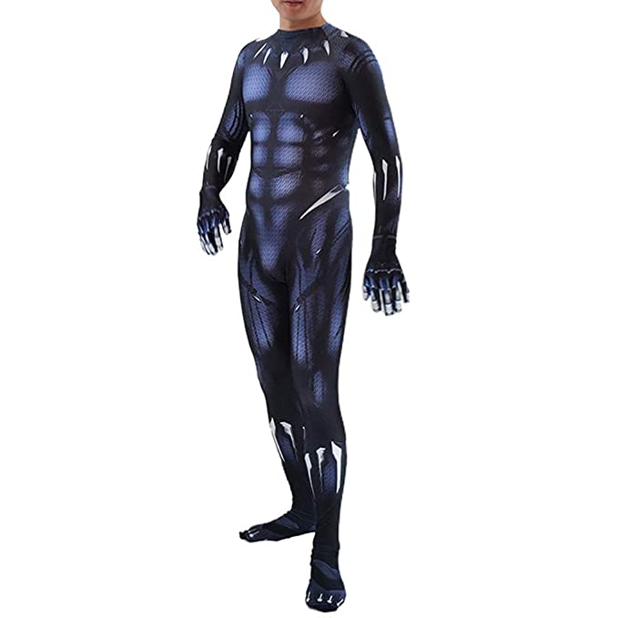 NDHSH Avengers Black Panther Spiderman Disfraz Disfraz Jumpsuit ...