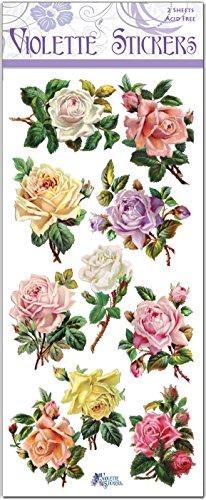 Violette Stickers Pastel Rose Buds ()