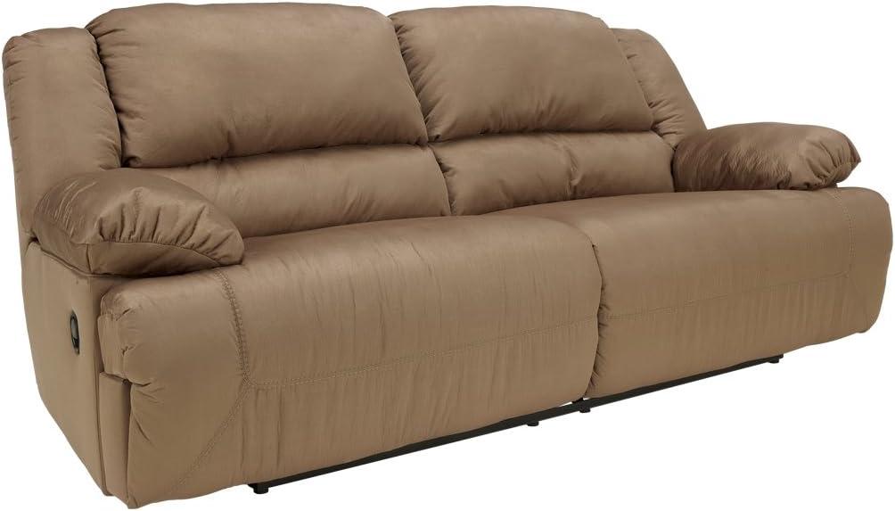 Microfiber reclining sofa