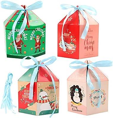 20 cajas de caramelos de Navidad, caja de regalo para tartas con ...