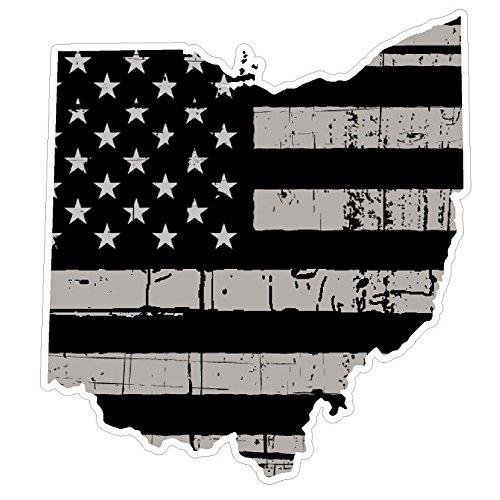 人気特価激安 オハイオ州状態( ) n36 ) Distressed Distressed Flagビニールデカールステッカー車/トラックノートPC/ネットブックウィンドウ オハイオ州状態( B07B7R189G, ジュークボックス:fb9fbcb5 --- a0267596.xsph.ru