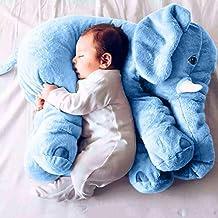 Missley Cute Elephant Pillow Toddler Sleeping Elephant Stuffed Plush Pillows Soft Plush Stuff Toys for Children Kids (blue)
