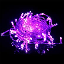 Decorative Christmas lights 66 Feet 200 LEDs Fairy Twinkle String Lights with Multi Flashing Modes Controller for Chirstmas Tree, Festival Celebration, Birthday Party, Garden, Girl's Room (Purple)