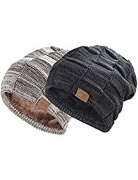 Beanie Hat for Men and Women Winter Warm Hats Knit Slouchy Thick Skull Cap 5ebdbc992442