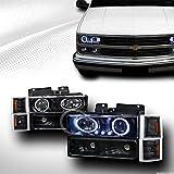 96 chevy 1500 headlight bulbs - HS Power BLK LED PROJECTOR HEAD LIGHTS+BUMPER+CORNER AM K2 94-99 CHEVY C10 C/K TRUCK/SUV