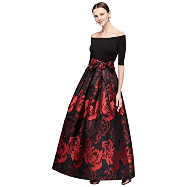 6901d30ac8e Off-The-Shoulder Crepe and Jacquard Ball Mother of Bride Groom Gown Style  JHDM3111 at Amazon Women s Clothing store