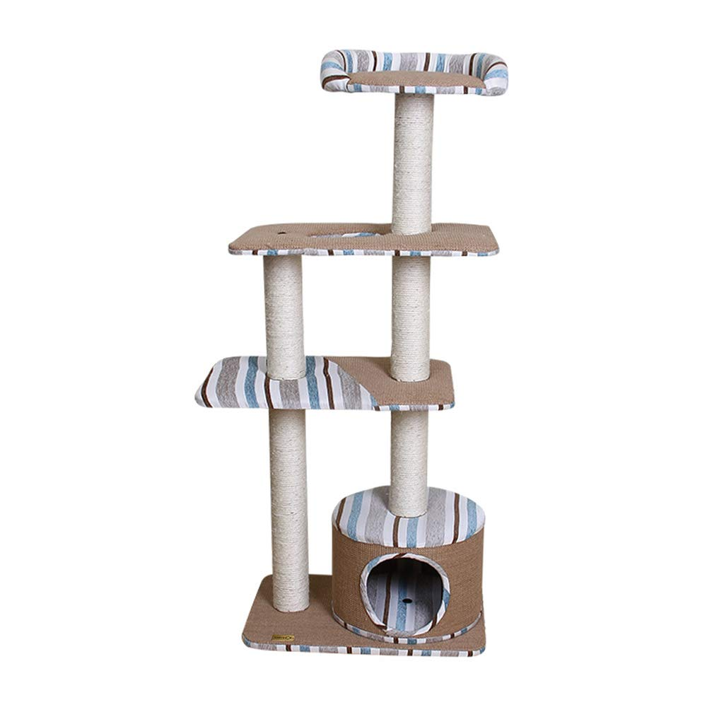 Cat Trees Cat Tree, Linen Natural Sisal Cat Tree Tower Cat Climbing Frame Wear-Resistant Scratch-Resistant Durable a4 Cat Houses