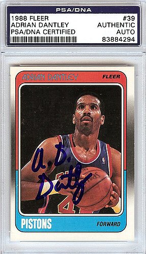 Adrian-Dantley-Signed-1988-Fleer-Card-39-Detroit-Pistons-PSADNA-Authentication-NBA-Basketball-Trading-Cards