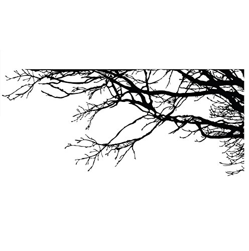 - Large Tree Wall Decal Sticker - Semi-Gloss Black Tree Branches, 44in X 100in, Right to Left. Removable, No Paint Needed, Tree Branch Wall Stencil The Easy Way.