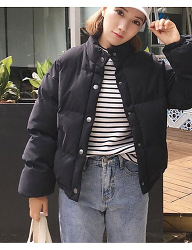 Others Daily Cute amp;SHANGYI Coat Women's size Solid Casual Sleeve Cotton one Padded TT Long w8YqfY