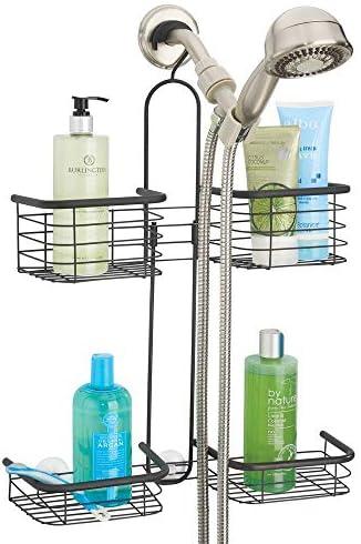 mDesign Metal Hanging Shower Organizer