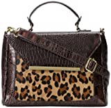 Anne Klein Just Spotted 60269346 Top Handle Bag,Brown,One Size, Bags Central