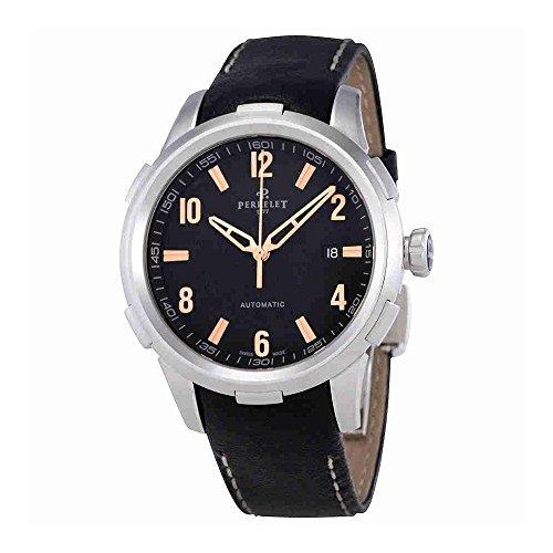 Perrelet Class-T Automatic Black Dial Mens Watch A1068/3